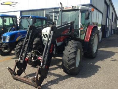 Traktor steyr mit hauer frontlader biso schrattenecker acrar