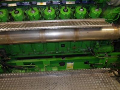 Gas cogeneration system (CHP), Engine: Jenbacher JMS 616 GS.N / Newage Stamford - Foto 5