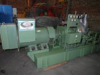 Condensing steam turbine Nadrowski, Dresser-Rand B5S-2+G4 / Leroy Somer - Foto 1