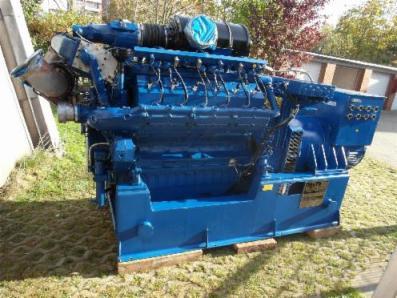 Gas cogeneration system / Combined Heat and Power (CHP), Engine: DEUTZ MWM TBG616V12 / Newage Stamford 600 KVA - Foto 1