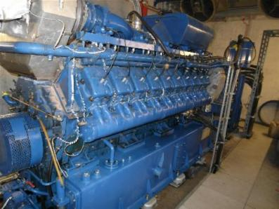 Gas cogeneration system / Combined Heat and Power (CHP), Engine: Deutz MWM TCG 2020V20 / Marelli 2850 KVA - Foto 1