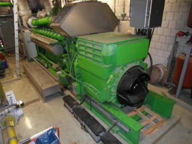 Gas cogeneration system / Combined Heat and Power (CHP), Engine: Jenbacher JMS 616 GS.N / Newage Stamford - Foto 1