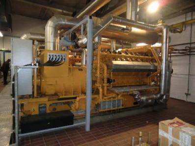 Gas cogeneration system / Combined Heat and Power (CHP), Engine: Jenbacher JW 316 GSA / Stamford HC634H4 - Foto 1