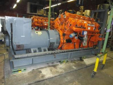 Gas cogeneration system / Combined Heat and Power (CHP), Engine: Waukesha L7042G / Leroy Somer LS AK 50 VL10 6-P - Foto 1