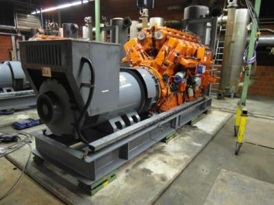 Gas cogeneration system / Combined Heat and Power (CHP), Engine: Waukesha L7042G / Leroy Somer LS AK 50 VL10 6-P - Foto 2
