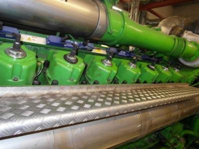 Gas cogeneration system (CHP), Engine: Jenbacher JMS 616 GS.N / Newage Stamford - Foto 3