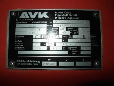 Used Generator AVK DIDBN 150 / 145 L/4 / - Foto 6