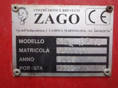 Livestock machinery Zago Zago KING 09 CD - BISO Schrattenecker - Foto 2