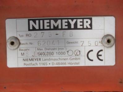 Pasture mowers / Topper Frontmähwerke Niemeyer RO 275 FB - BISO Schrattenecker - Foto 3